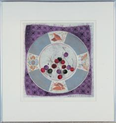 Plate with Cherries by Tift Mary