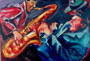 Le saxophoniste by Rechberger Georges