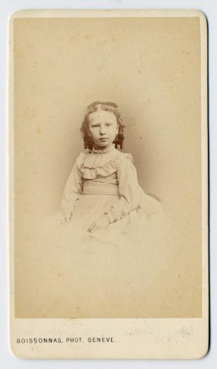 Esther Joséphine Elisa Heusler (1864), enfant by Boissonnas Fred