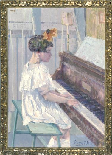 Fillette au piano by Alin Pierre