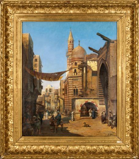 Strasse in Kairo by Weiss Johann Rudolf