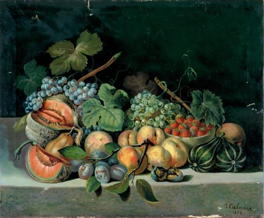 Nature morte avec fruits by Calame Humbert Julien