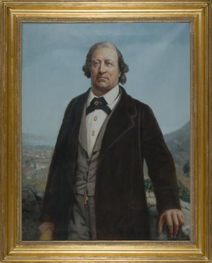 Portrait du Colonel Friedrich Schwab  by Robert Aurèle